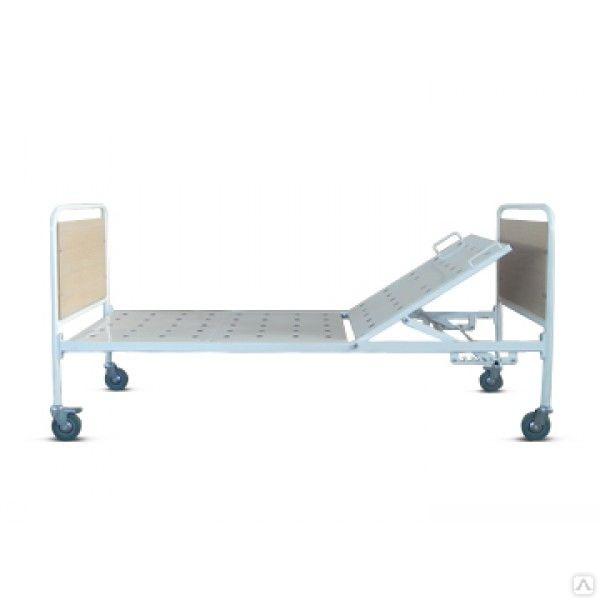 Кровать медицинская передвижная  с регулировкой подголовника