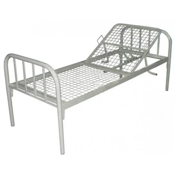 Кровать для лежачих больных с регулируемым подголовником