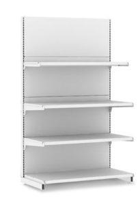 Металлический стеллаж торцевой для магазина L1000 H2250