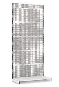 Пристенный перфорированный стеллаж для магазина L1000