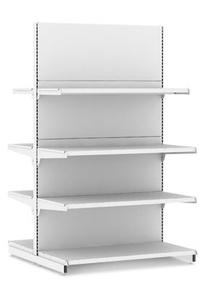 Стеллаж металлический островной для магазина L665 H2250