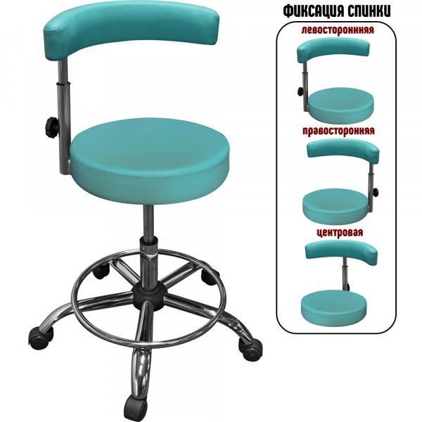 Стул стоматолога-ортопеда с регулируемой спинкой