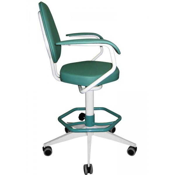 Кресло лабораторное винтовое  с подлокотниками и опорой для ног