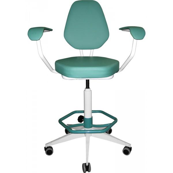 Кресло для лабораторий винтовое  с подлокотниками и опорой для ног