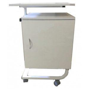 Тумба  для больничной палаты подкатная с поворотным столиком