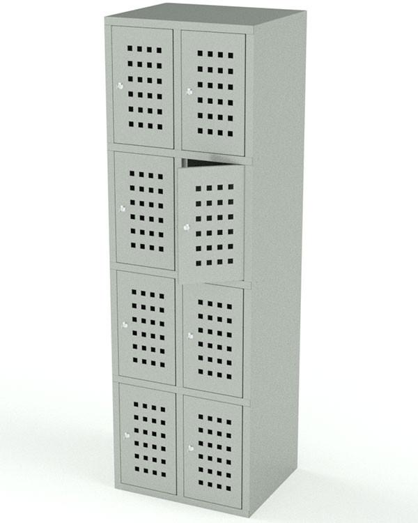шкаф для сумок с ячейками хранения