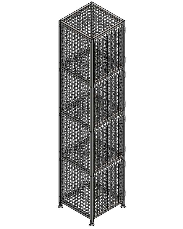 Сумочный шкаф для вещей в магазине 12 ячеек в Казани по цене 37450 руб