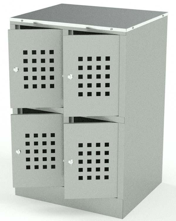 Шкафчик для сумок на 4 ячейки в Казани по цене 8560 руб