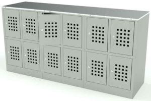 Шкаф 12 ячеек перфорированные двери