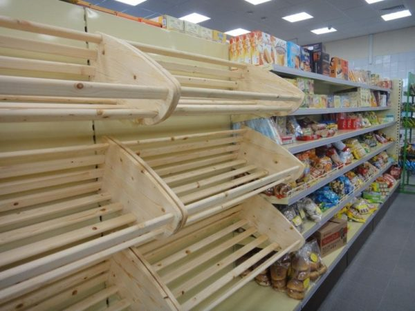 Стеллаж хлебный торговый для хлеба с фризом в Казани по цене 16448 руб