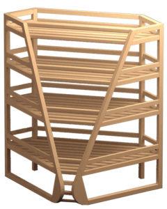 Внутренний деревянный стеллаж