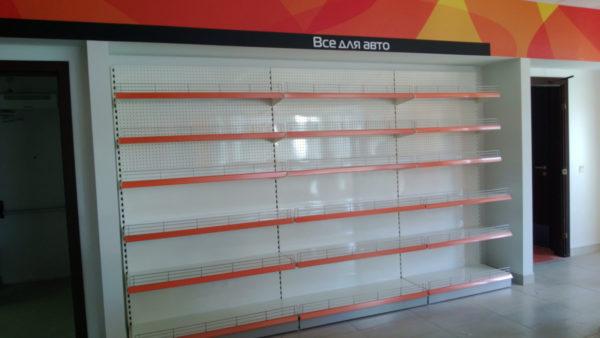 Стеллаж торговый пристенный средний пристенный в Казани по цене 4065 руб