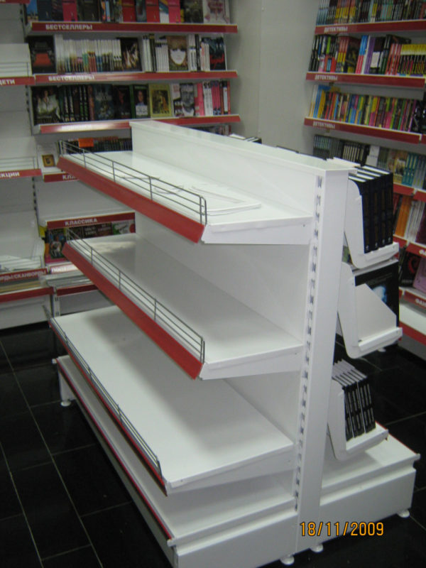Стеллаж для продажи книг и CD/DVD дисков пристенный в Казани по цене 13075 руб