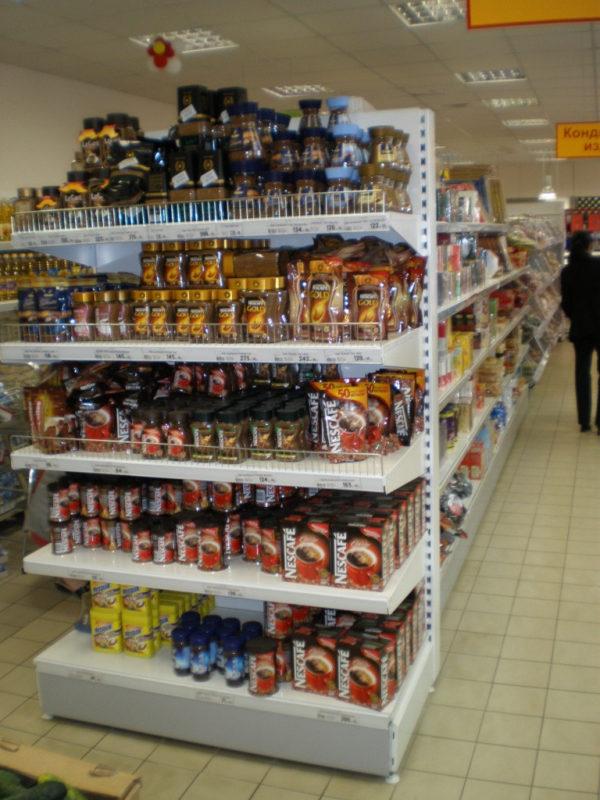 Прямой торговый торцевой стеллаж средний торцевой в Казани по цене 5590 руб