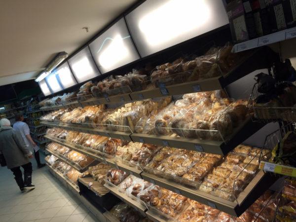 Стеллаж для хлеба и булок с фризом и подсветкой