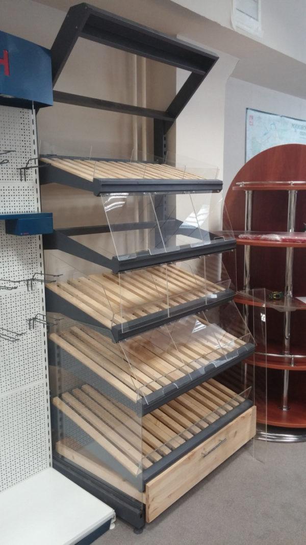 Стеллаж для хлеба и булок с фризом и подсветкой в Казани по цене 49092 руб