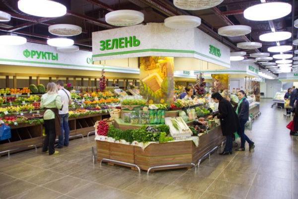 Система деревянных овощных стеллажей с суперструктурой в Казани по цене 150043 руб