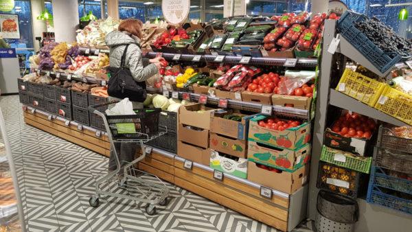 Овощной стеллаж - развал комплексный