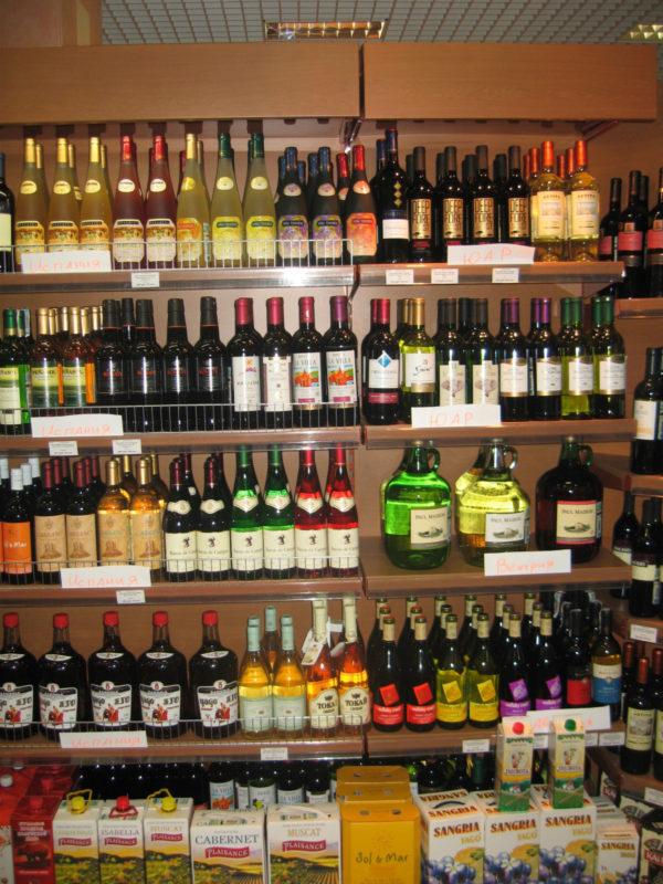 Стеллаж для алкоголя пристенный открытый