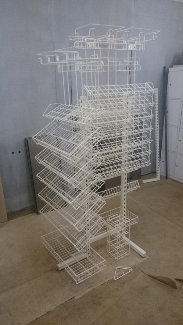 Наклонный блок 7 полок с кронштейнами 660х100х740 стеллажный из металла в Казани по цене 1444 руб