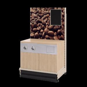 Кофе-модуль на базе стеллажа Евромаркет