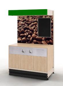 Кофе модуль Евромаркет с фризом S-975