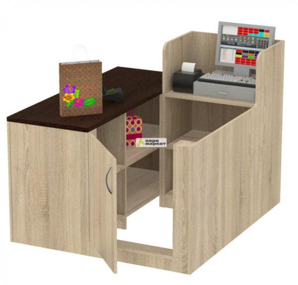 Кассовый стол торговый ЛЕНТА №1 левый
