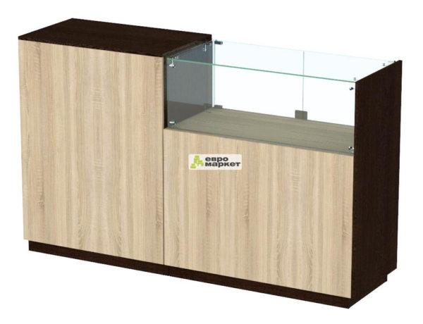 Кассовый стол торговый КС №8-1А1С правый