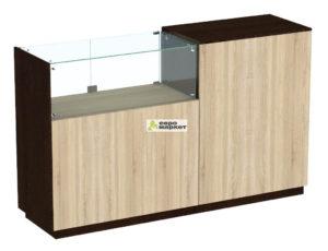 Кассовый стол торговый КС №8-1А1С левый