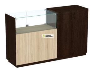 Кассовый стол торговый КС №8-1Б1С левый