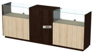 Кассовый стол торговый КС №8-2С1Б