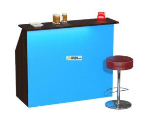 Барная стойка №1 Синий с диодной подсветкой