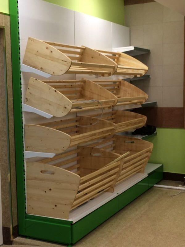 Стеллаж торговый хлебный без фриза в Казани по цене 14815 руб