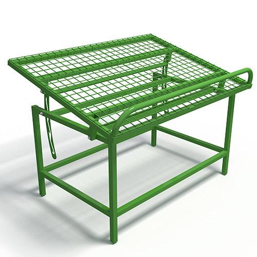 Металлический фруктово-овощной развал с регулируемым наклоном полки