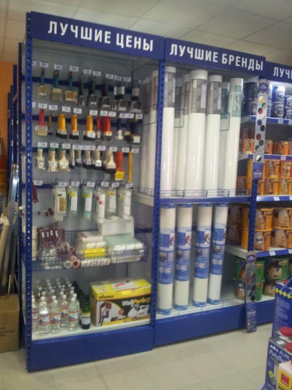 Стеллаж для продажи обоев и краски в Казани по цене 14991 руб