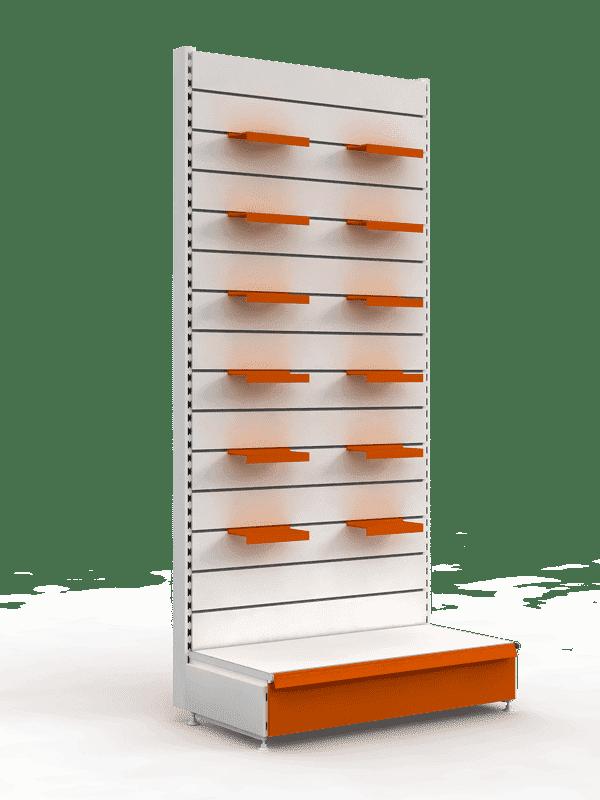 Стеллаж торговый с эконом-панелями