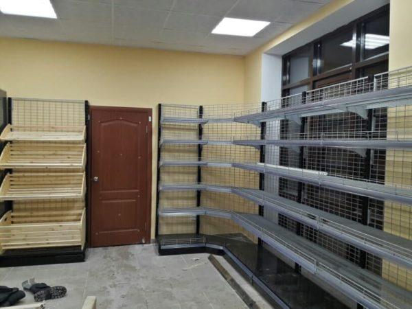 Стеллаж сетчатый угловой внутренний угловой в Казани по цене 11415 руб