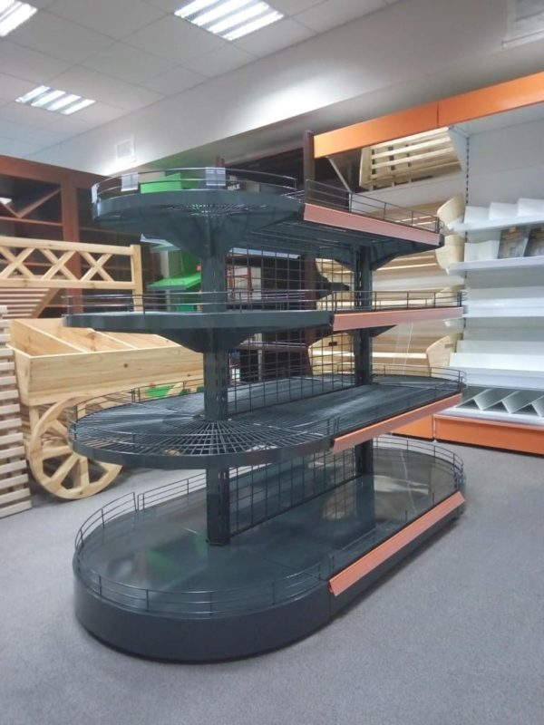 Стеллаж сетчатый островной островной в Казани по цене 12755 руб