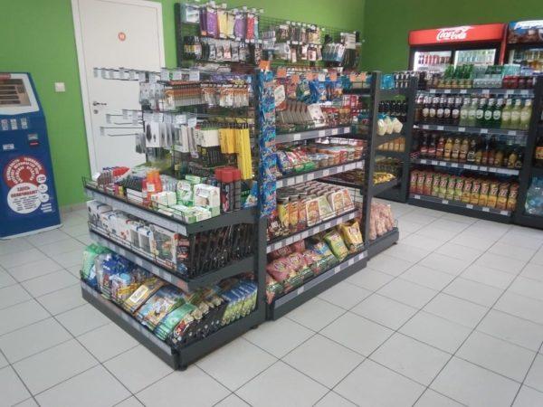 Стеллаж сетчатый островной низкий островной в Казани по цене 9900 руб
