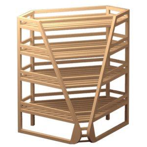 Деревянные стеллажи торговые от фабрики мебели Агат