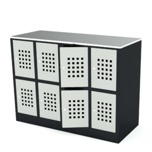 Шкафы для сумок - ячейки хранения металлические