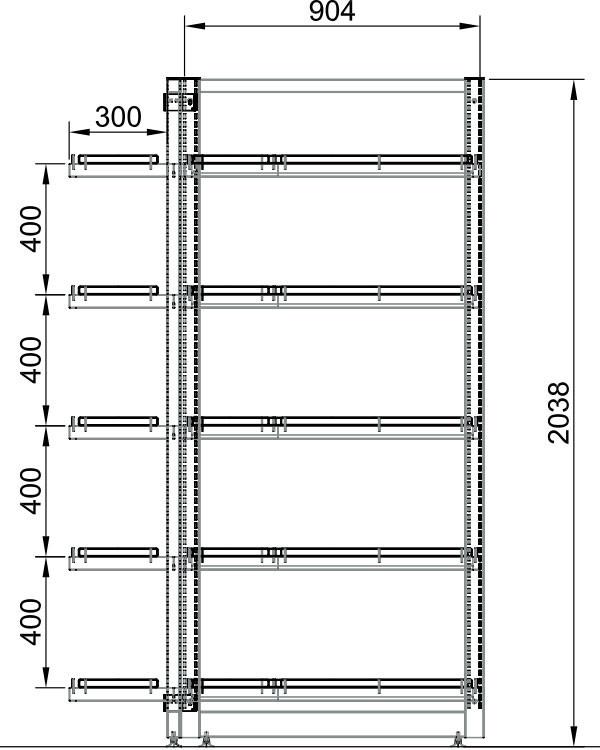 Модуль островной высокий 2-х секционный металлический в Казани по цене 22909 руб