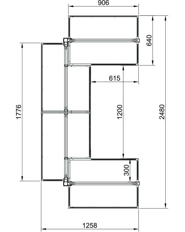 Модуль островной высокий 4-х секционный металлический в Казани по цене 45790 руб