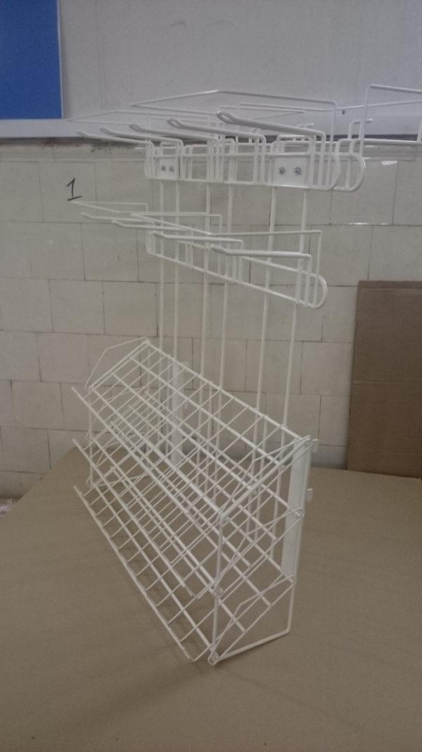 Наклонный блок 3 полки с кронштейнами 647х195х386 для стеллажа из металла в Казани по цене 840 руб