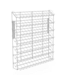 Наклонный блок 7 полок с кронштейнами 660х100х740