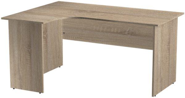 Офисные столы для персонала: Стол эргономичный угловой левый ЛДСП цвет Дуб Сонома