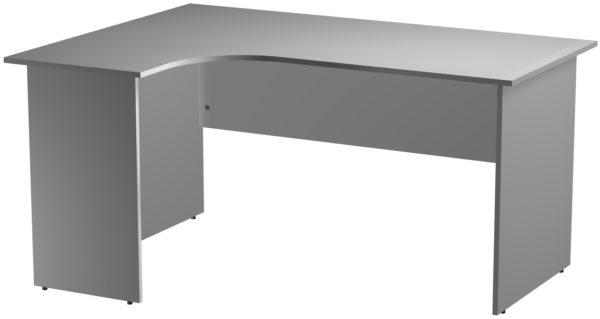 Офисные столы для персонала: Стол эргономичный угловой левый ЛДСП цвет серый