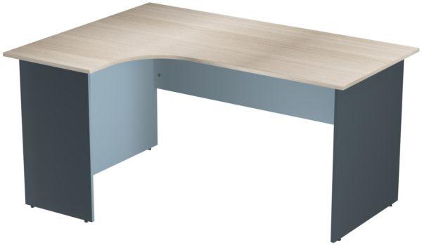 Офисные столы для персонала: Стол эргономичный угловой левый ЛДСП многоцветный
