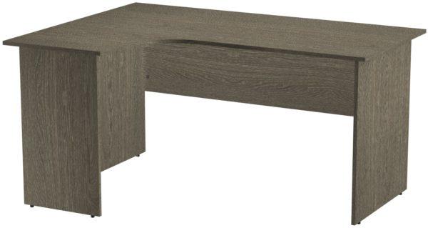 Офисные столы для персонала: Стол эргономичный угловой левый ЛДСП цвет Ясень Анкор