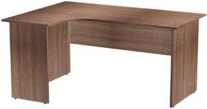Офисные столы для персонала: Стол эргономичный угловой левый ЛДСП цвет Ясень Шимо тёмный